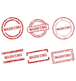 Warning stamps vector image vector image
