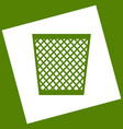 trash sign   white icon vector image