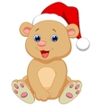 Cute baby bear cartoon sitting vector image