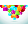 Abstract perspective background with colorful vector image vector image