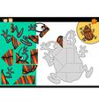 cartoon shield bug jigsaw puzzle game vector image