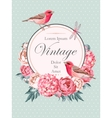 Beautiful vintage card with birds vector image