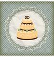 retro wedding invitation vector image