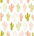 Hipster cactus seamless pattern Cacti tribal boho vector image