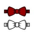 Bow Tie Icons Set Red and White vector image