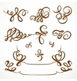Decorative calligraphic flourishes on a white vector image