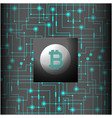 green network connection bitcoin cryptocurrency ve vector image