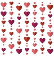 Seamless pattern with flat hearts vector image