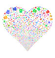toxic rubbish fireworks heart vector image