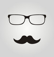 hipster glasses and mustaches vector image