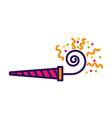 cute serpentine shot cartoon vector image