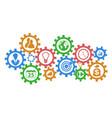 business mechanism gears background vector image
