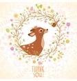Deer and Bird vector image vector image
