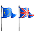euro britain triangle flag vector image vector image