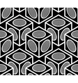 Monochrome abstract interweave geometric seamless vector image