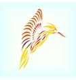 Beautiful hummingbird on background vector image