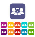 people group icons set flat vector image