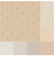 Seamless thunder pattern on recycled paper vector image