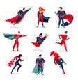 superheroes characters set vector image