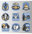 Boxing Colored Emblems vector image
