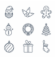 Basic Christmas Icons vector image vector image