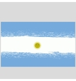 Grunge National Argentinean Flag vector image