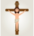 Jesus christ crucified design isolated vector image