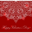 Happy valentine day card with round ornate vector image
