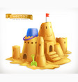 sand play sandcastle 3d icon vector image