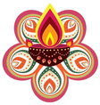 Indian Floral decorative design vector image vector image
