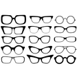 fashion glasses vector image vector image
