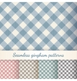 Set of seamless checkered gingham patterns vector image