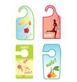 sale spring label vector image