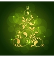 christmas gold tree vector image vector image