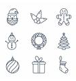 Basic Christmas Icons vector image