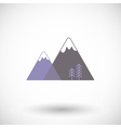 Mountains flat icon vector image