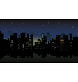 night city view vector image