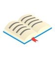 Open textbook isometric 3d icon vector image