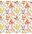 Pattern of cheerful muzzles cow vector image