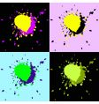 set of four grunge elements vector image