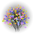 Tree with colorful spots vector image