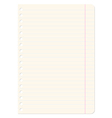 Blank sheets of paper sheet in line vector image vector image