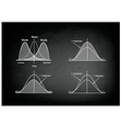 Collection of Positive and Negative Distribution vector image