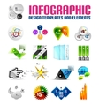 Modern colorful infographic templates and elements vector image vector image