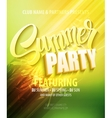Summer party Template poster vector image