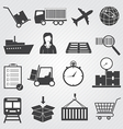 Logistic and Delivery Icons Set vector image vector image