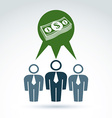 Teamwork and business team with dollar money icon vector image