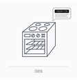 Oven icon Electric stove sign vector image