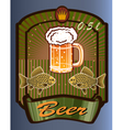 glass goblet with beer and foam vector image vector image