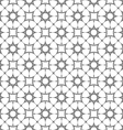 Monochrome seamless pattern with stylized stars vector image
